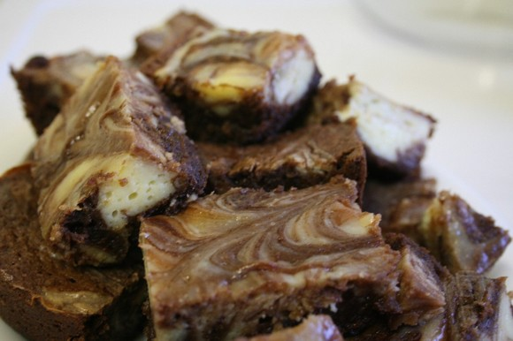 Recipe: Cheesecake-Marbled Brownies